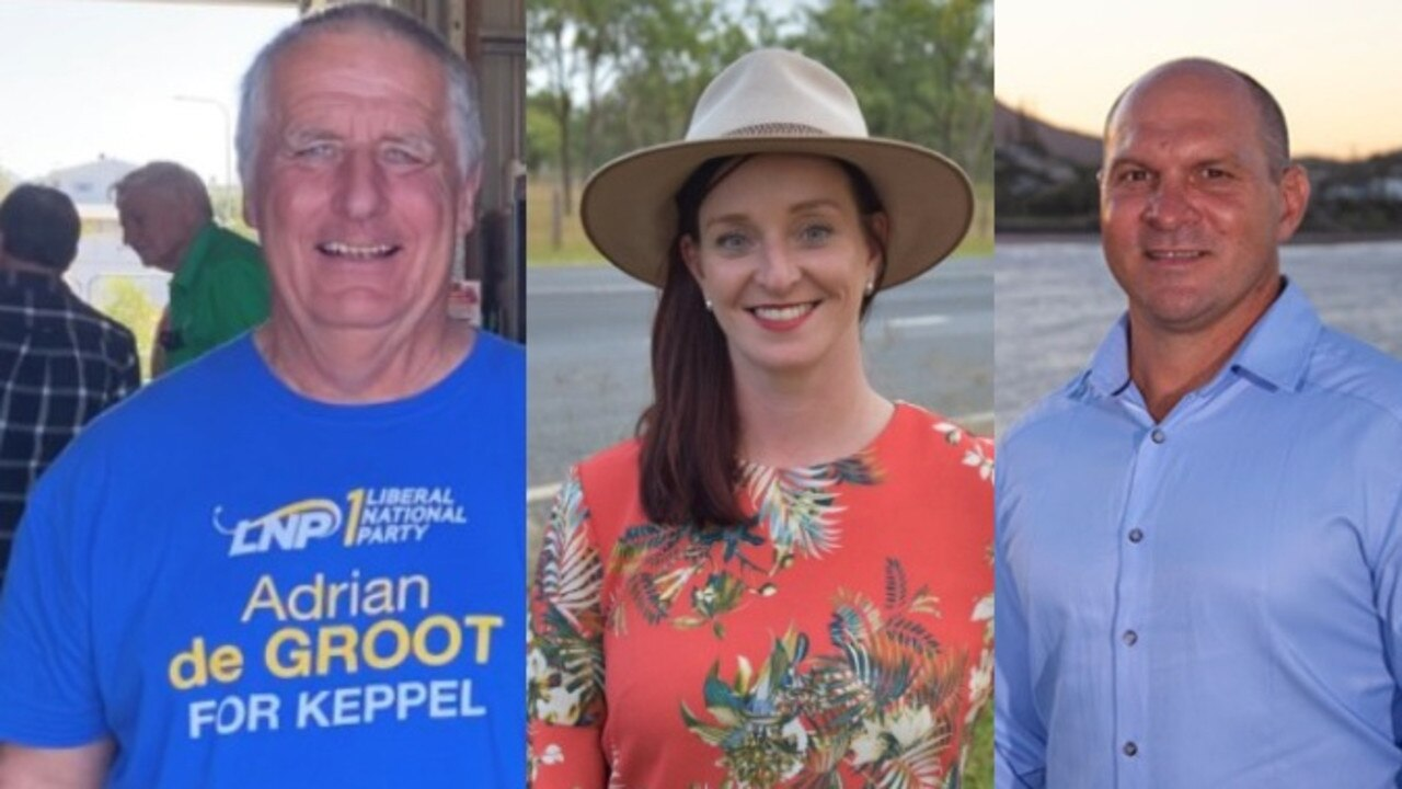 THREE HORSE RACE: The seat of Keppel is expected to be hotly contested between the LNP's Adrian de Groot, Labor's Brittany Lauga and One Nation's Wade Rothery.