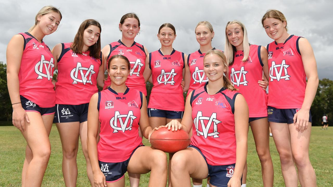 Mountain Creek's senior girls ahead of the SEQ Invitational finals. Picture: Patrick Woods / Sunshine Coast Daily.