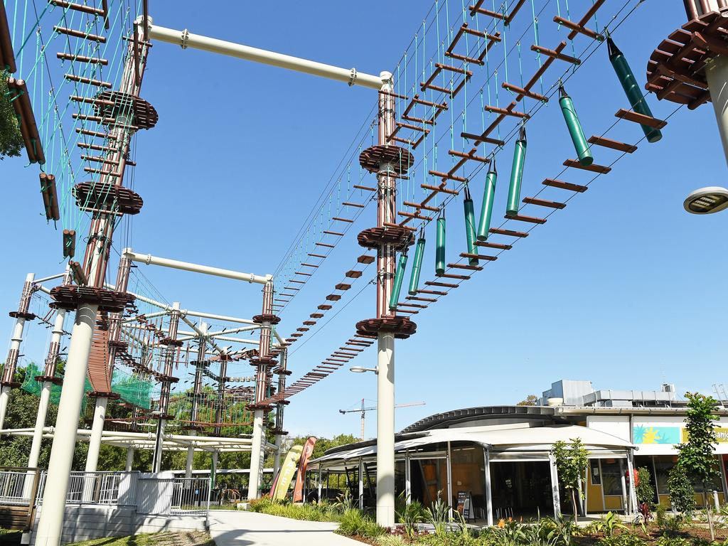 High Ropes course at Sunshine Plaza will be open to the public by late November. Photo: Patrick Woods