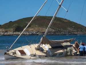 HOLY SHIP! Yacht beaches itself in Coffs