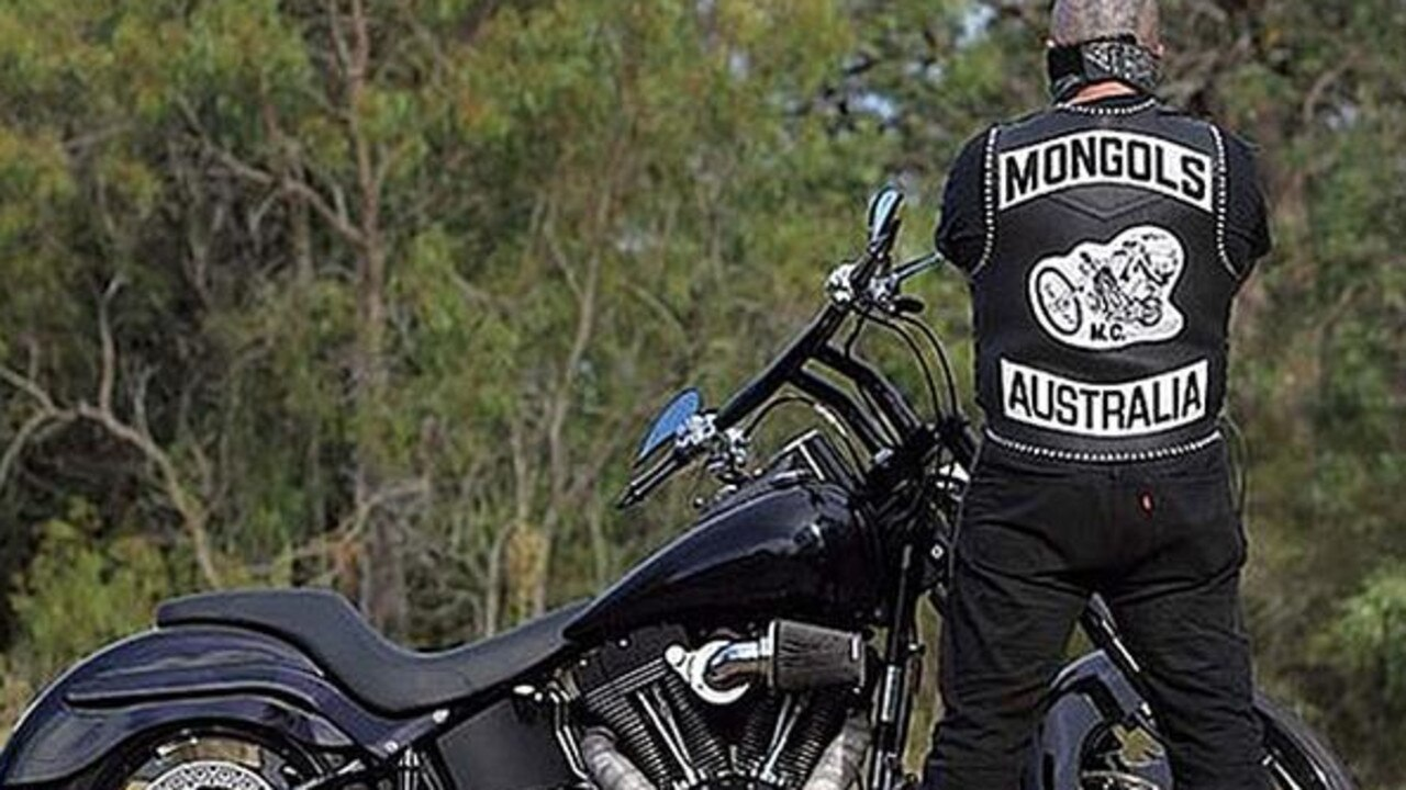 A Mongols bikies with his Harley Davidson