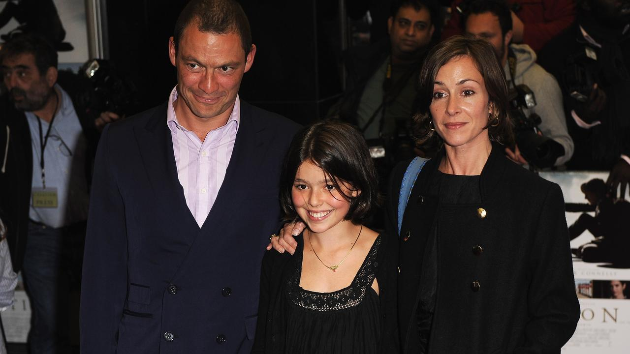 Dominic West, Martha West and Polly Astor in 2009. Picture: Ian Gavan/Getty Images