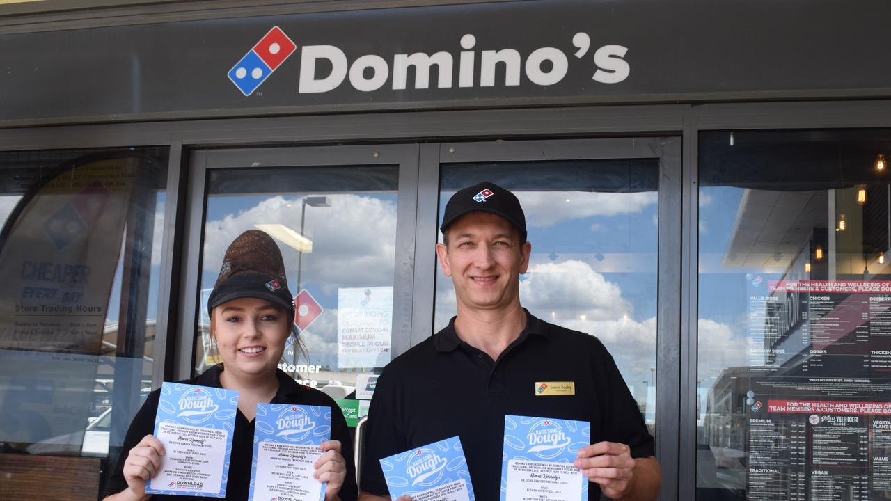 Domino's Kirkwood Hayley Auld and James Dooley.