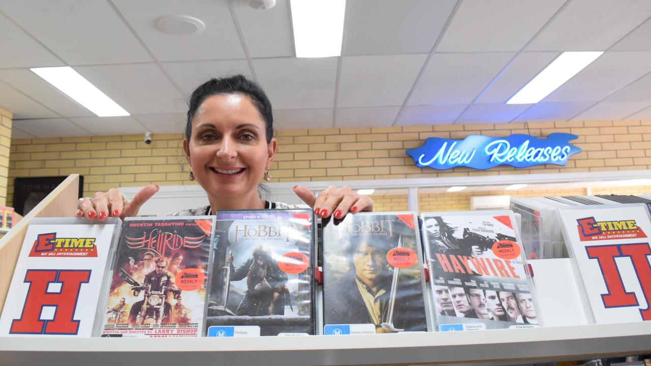 E-Time video store owner Karen Ford. The store is now selling more than 12,000 titles with prices starting from as low as 50c.