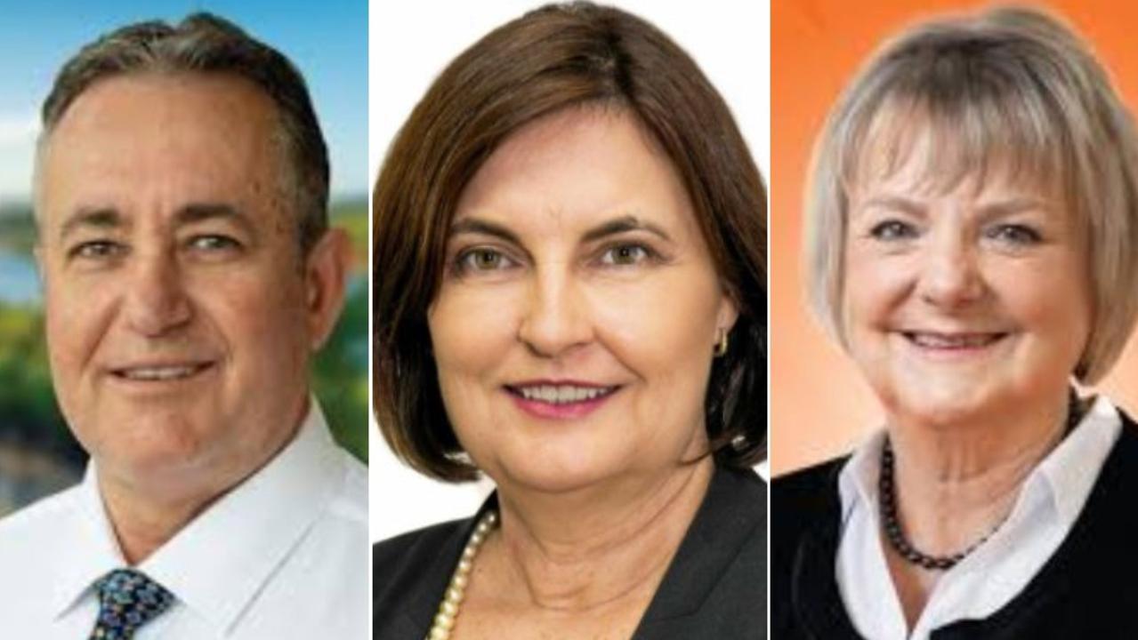 Mackay state election candidates: Chris Bonanno (LNP), Mackay MP Julieanne Gilbert and One Nation's Christine Keys.