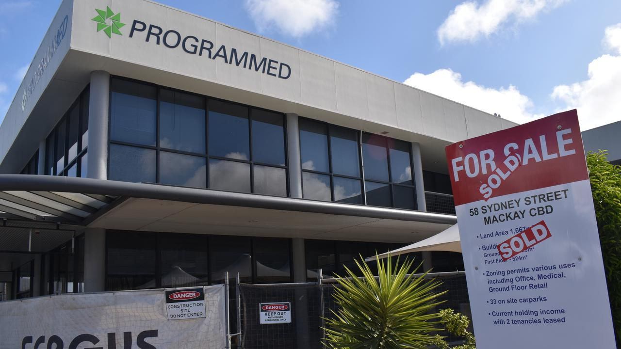The building at 58 Sydney St was sold and renovations have begun. It was one of the many empty retail and commercial spaces in Mackay's CBD in September 2020. Picture: Zizi Averill