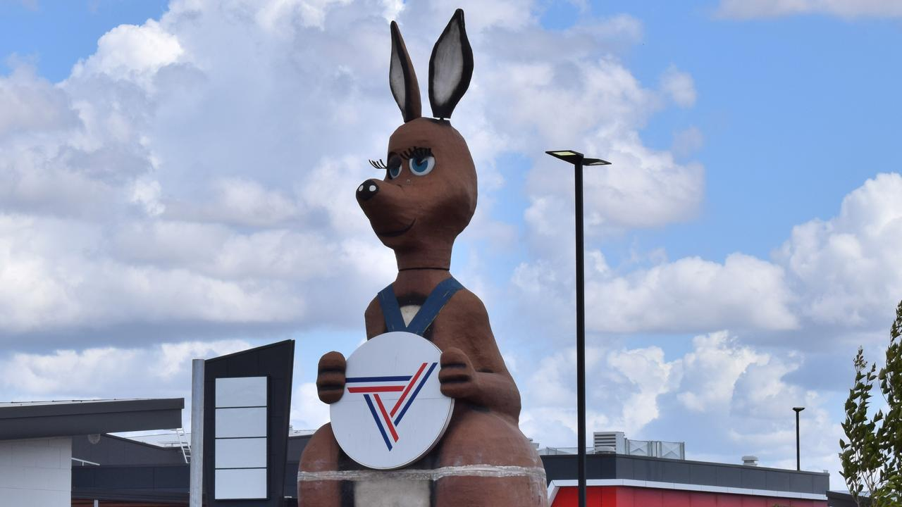 Matilda the Kangaroo has found her new home in the Gympie region, at the developing Traveston mega servo.