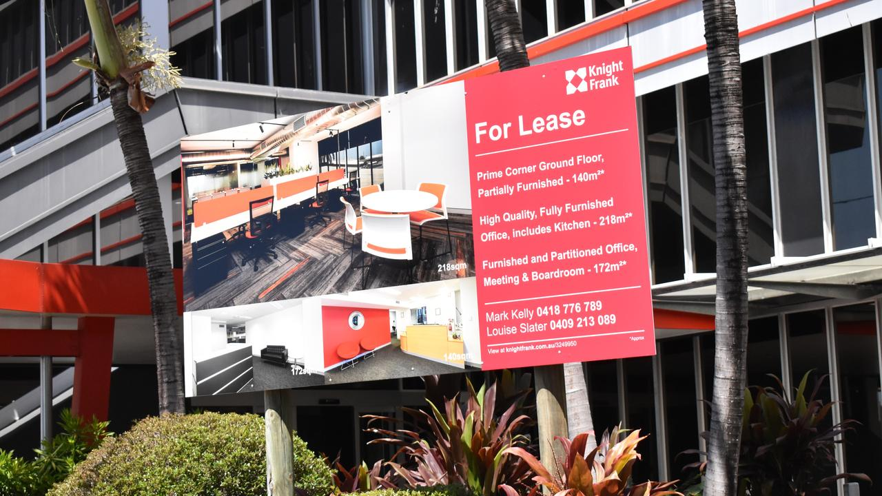 This ground floor space for lease at 45 Victoria St was one of many empty retail and commercial spaces in Mackay's CBD in September 2020. Picture: Zizi Averill