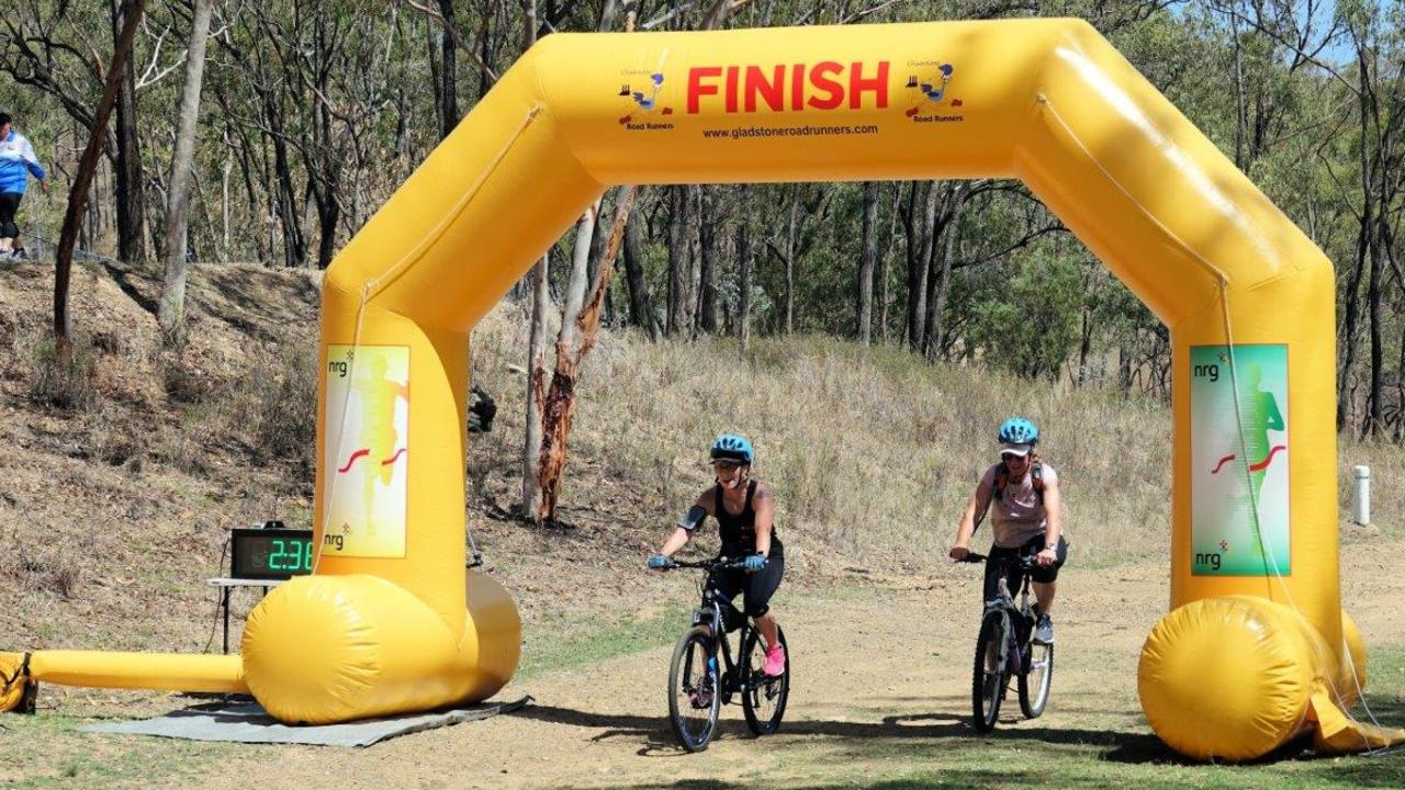Finish line at the 2019 Lake Awoonga Adventure Race.