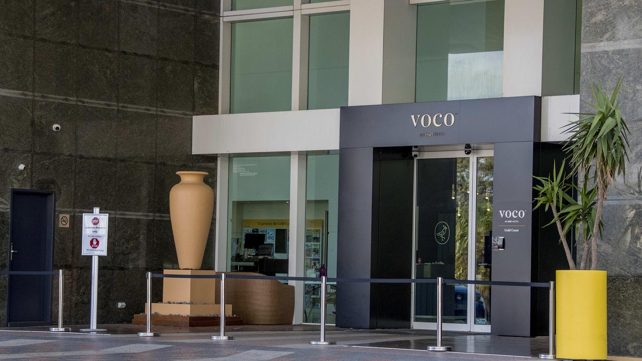 The entrance to the Voco Gold Coast in Surfers Paradise. Picture: Jerad Williams.