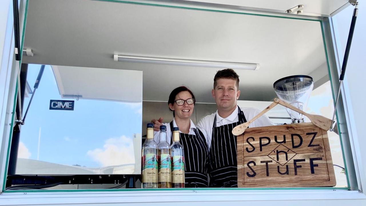 Spudz 'n' Stuff Mackay owners Katrina and Ashley Anderson. Picture: Contributed