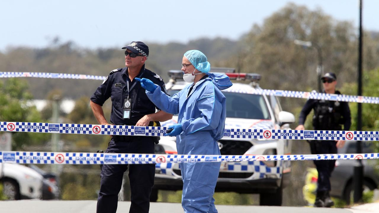 Police investigating Shane Bowden's murder. Picture: Richard Gosling