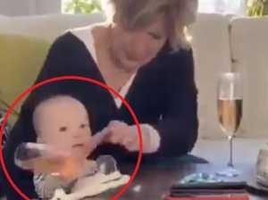 Grandma's split-second baby move divides