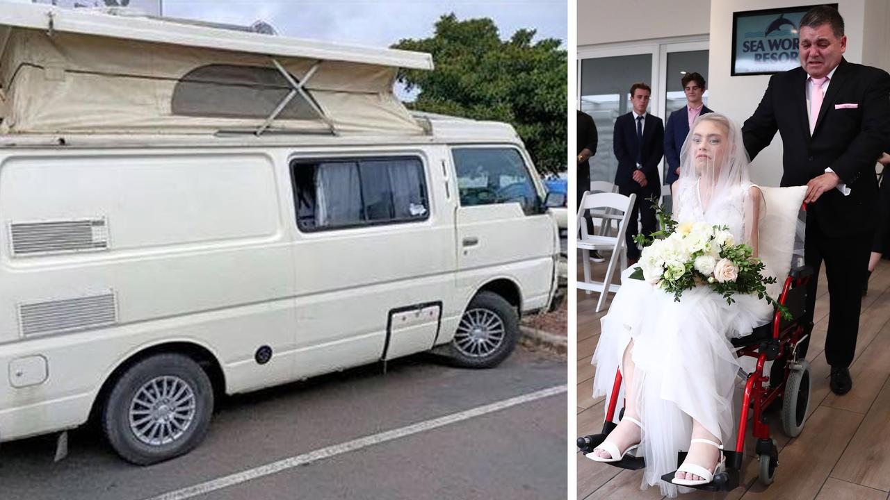 Melanoma campaigner Ashleigh Hale (nee Simrajh) Tony has campervan stolen