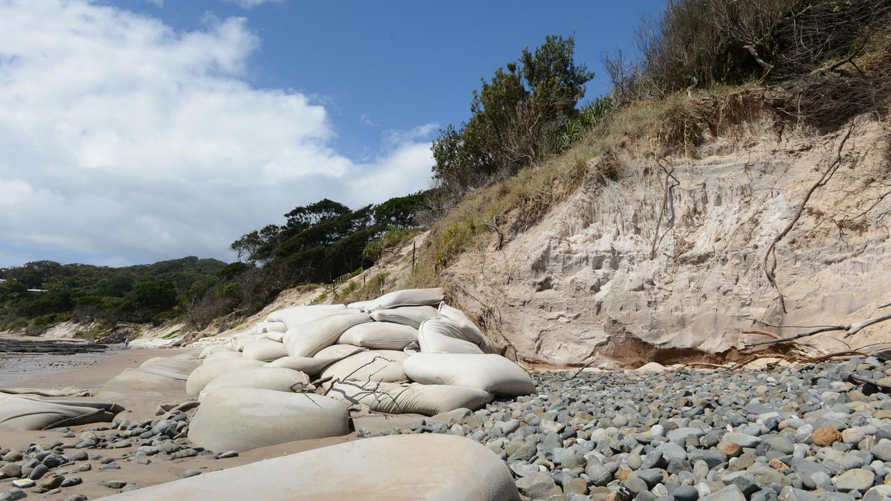 Serious erosion is continuing to cause concerns on Clarkes Beach in Byron Bay. Some of the beach access points remain closed as of Friday, September 18.
