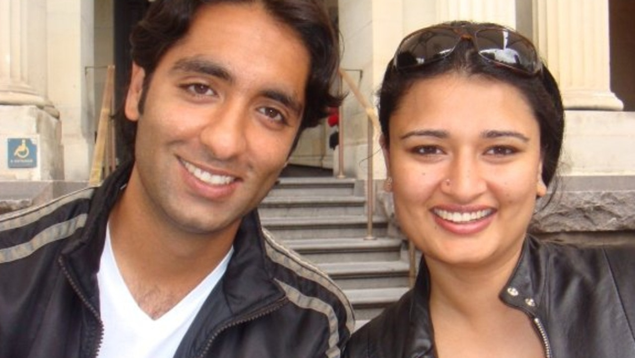 Jeetender and Reetika Ajjan in Melbourne, posted February 25, 2008. Picture: Facebook