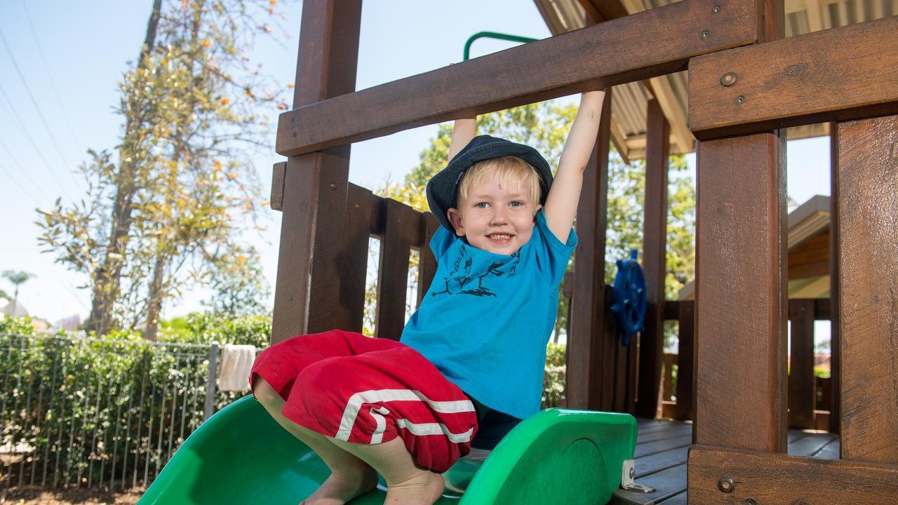 Mason likes playing with the dinosaurs and playing in the home corner where he plays babies. Photo: Ali Kuchel