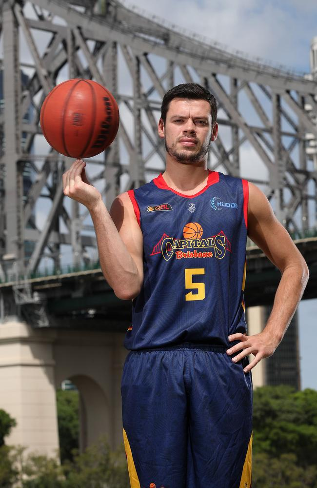 Brisbane Bullets player Jason Cadee in this Brisbane Capitals uniforms, Brisbane. Photographer: Liam Kidston.