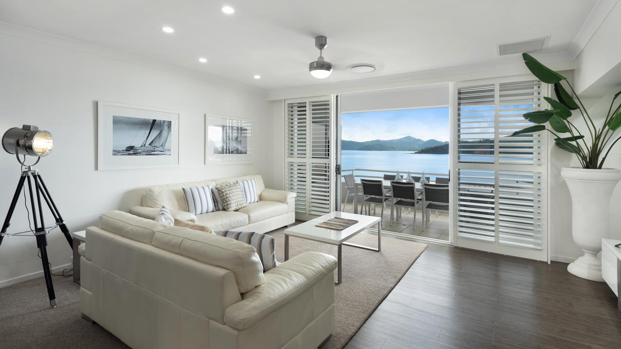 202 Frangipani on the Beach is one of two Queensland properties in the running for the Stayz Holiday Home of the Year. Picture: Neil Piddick