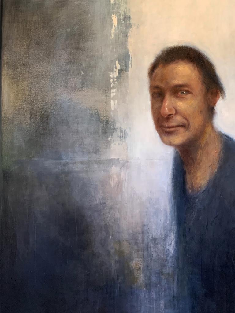Portrait of Julian Louis, Het licht achter de schermen (The light behind the stage) (Julian Louis). 2020. Oil on canvas