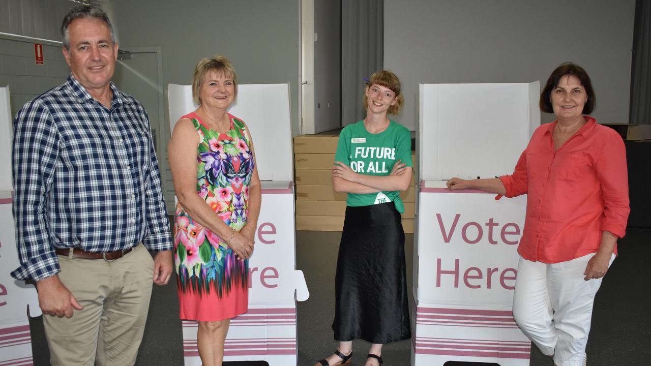 LNP candidate Chris Bonanno, One Nation candidate Christine Keys, The Greens candidate Imogen Lindenberg and incumbent Labor MP Julieanne Gilbert