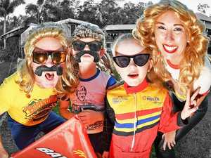 'Bazza and Shazza' bring Bathurst to the backyard