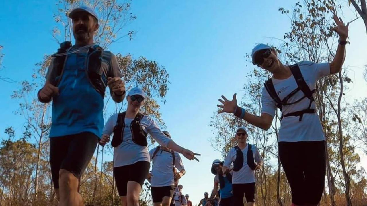 Ultra-marathon runner Neil MacNeil (left) was part of a group of 20 who completed the Trail to Triumph charity run to raise funds for lung disease research.