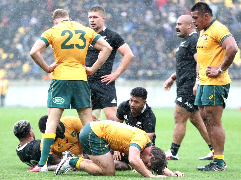 The Wallabies recorded an impressive draw in Wellington. (Photo by Phil Walter/Getty Images)