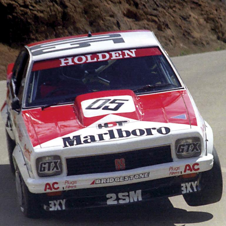 The famous Torana A9X, wearing Brock's equally famous 05, sprints to victory at Bathurst in 1979.