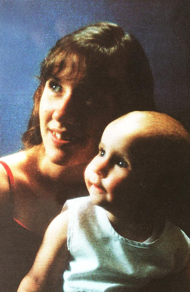 Jacinta Bush with her child Lydia.