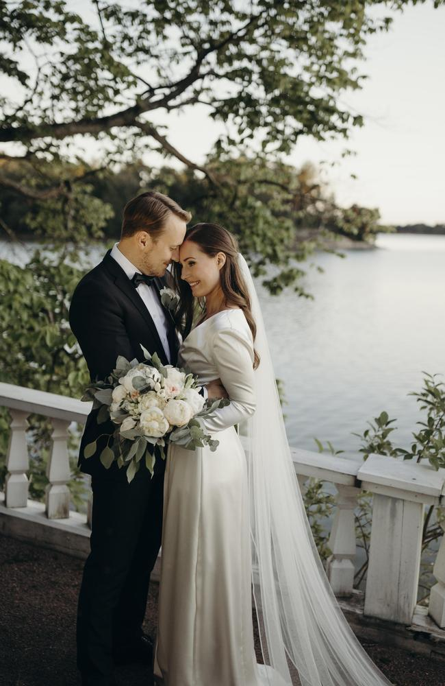 Finnish Prime Minister Sanna Marin at her wedding in Helsinki in August. Picture: Minttu Saarni/Finnish Prime Ministers Office via Getty Images