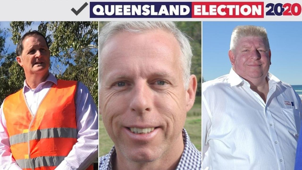 CANDIDATES: From left, Labor hopefuls Jason Hunt (Caloundra), Brent Hampstead (Glass House) and Mark Denham (Noosa).