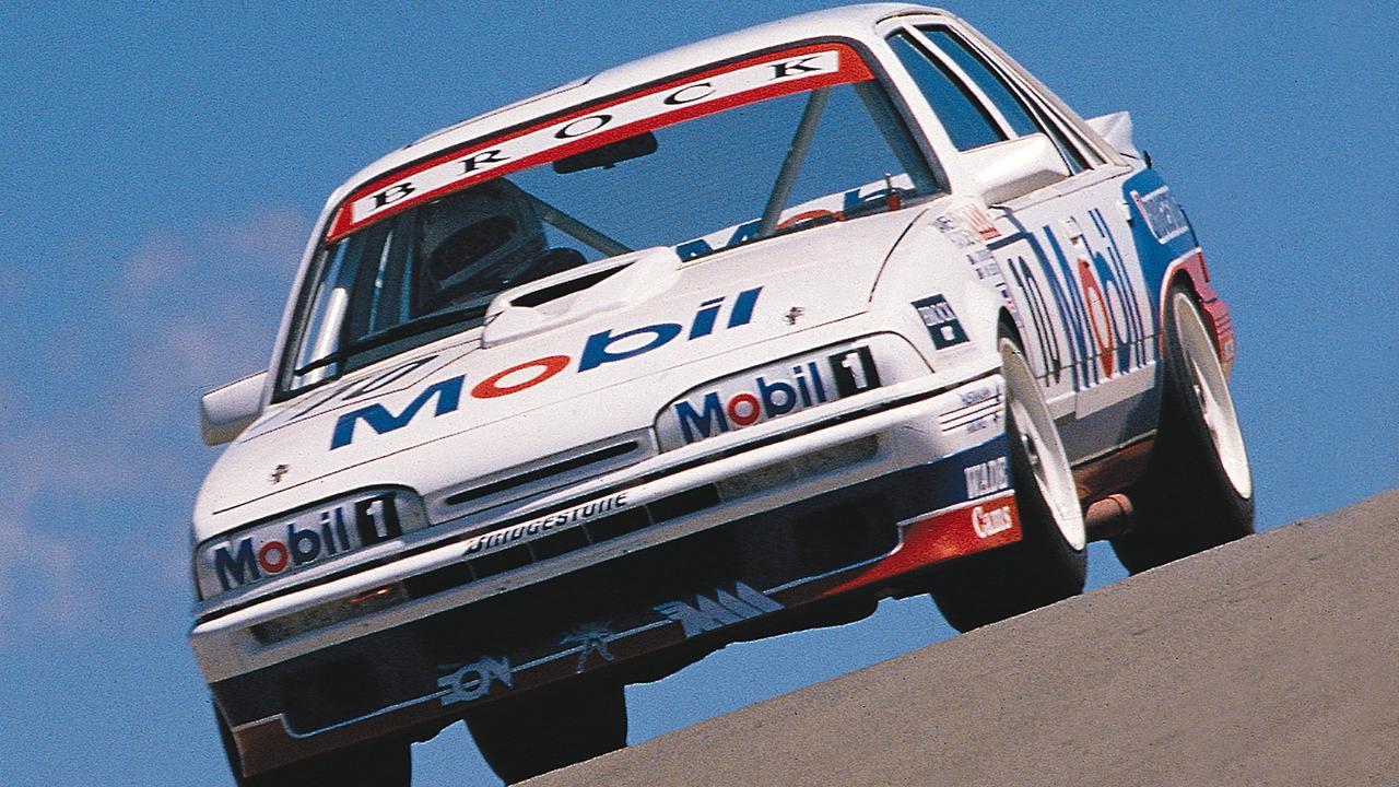 Peter Brock in his Holden Commodore winning 1987 Bathurst 1000 race.