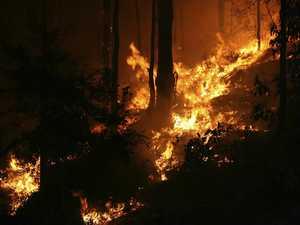 Crews monitoring rural vegetation fire