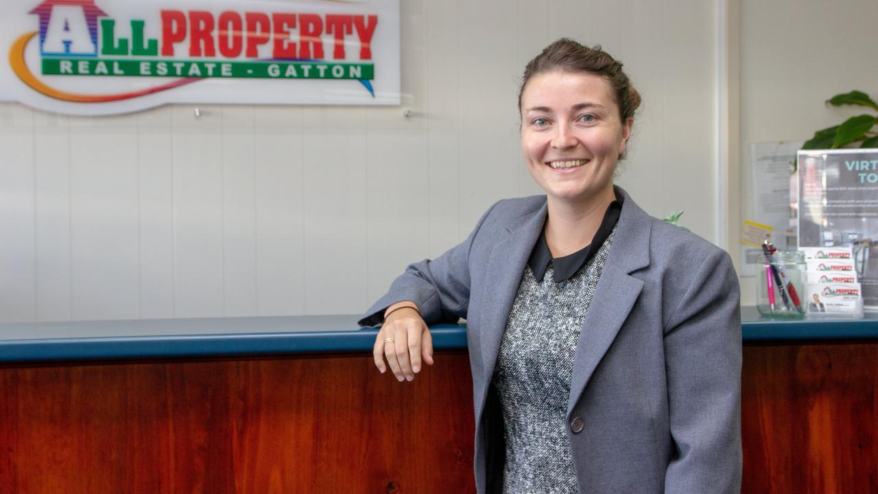OPEN HOMES: Gatton real estate agent Emily Hallas.