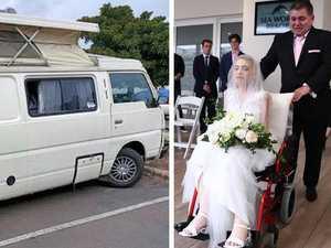 Cruel blow: Ashleigh's grieving dad has campervan stolen