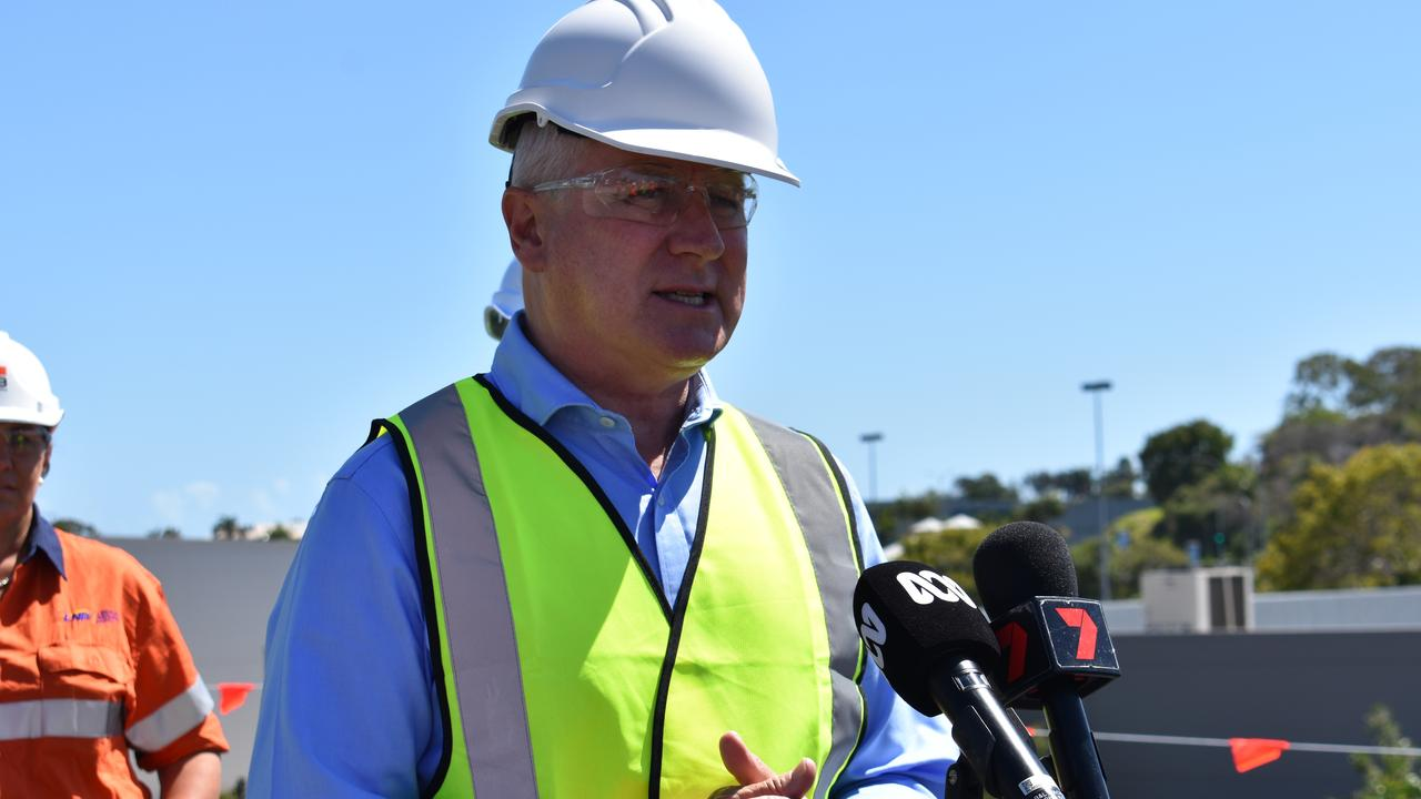 Deputy Prime Minister Michael McCormack in Mackay. Picture: Melanie Whiting