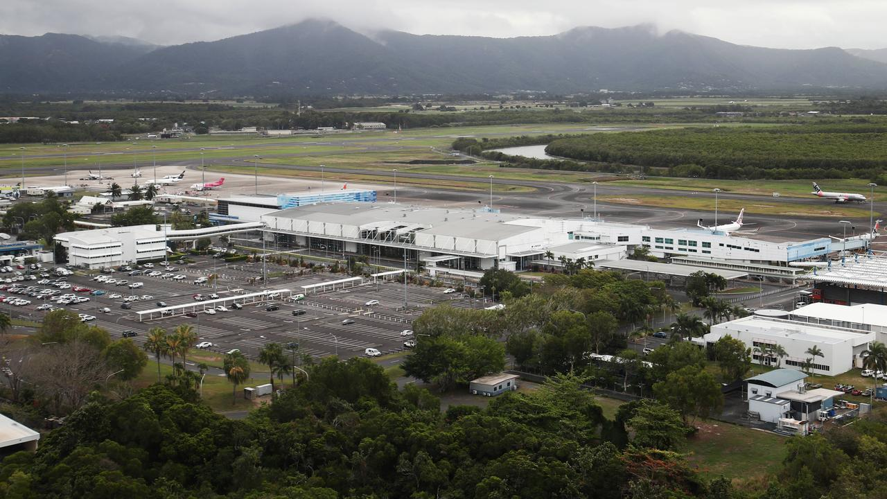 The Cairns International Airport. Two travellers returning from Uganda have now tested positive to coronavirus in Cairns. PICTURE: BRENDAN RADKE