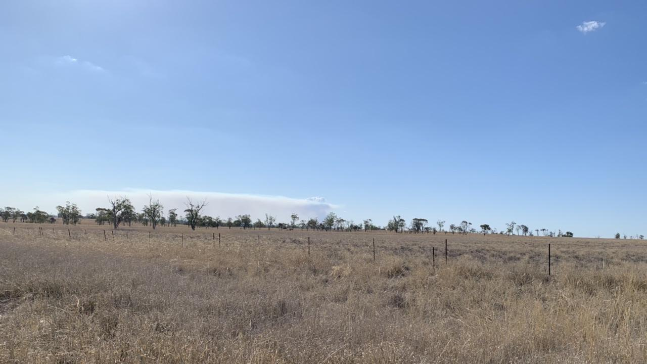 Bymount smoke seen from Dargal Rd, Roma. Pic: Lachlan Berlin