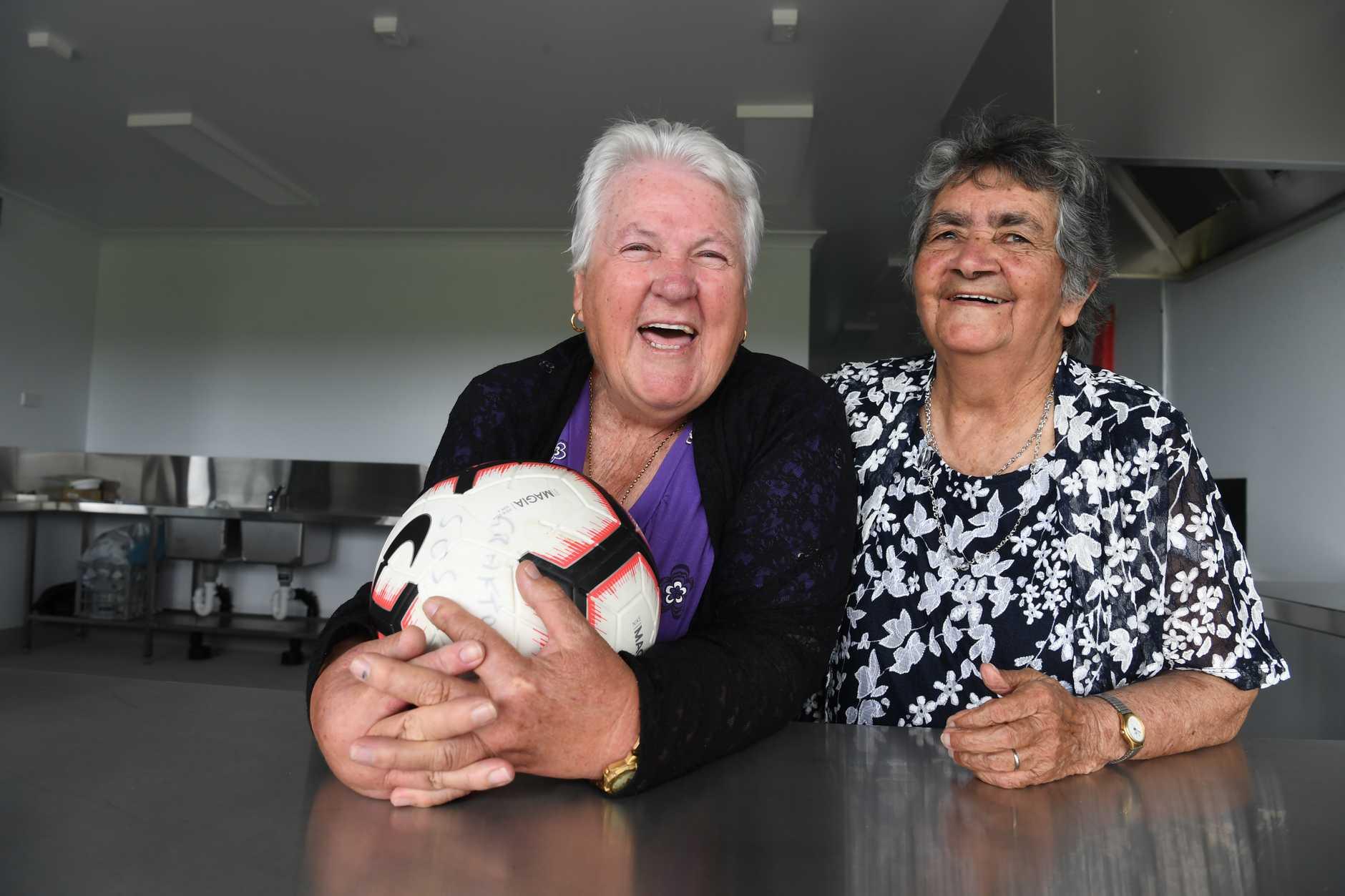 Rhonda Adamson and Nita Taylor in the new canteen at Rushforth Park. Photo: ADam Hourigan