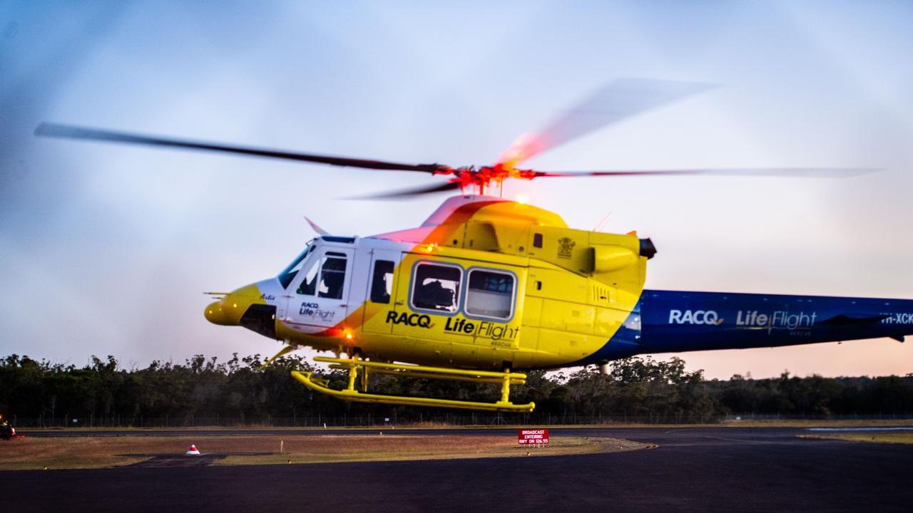 RACQ Lifeflight chopper. Picture Cody Fox NRM