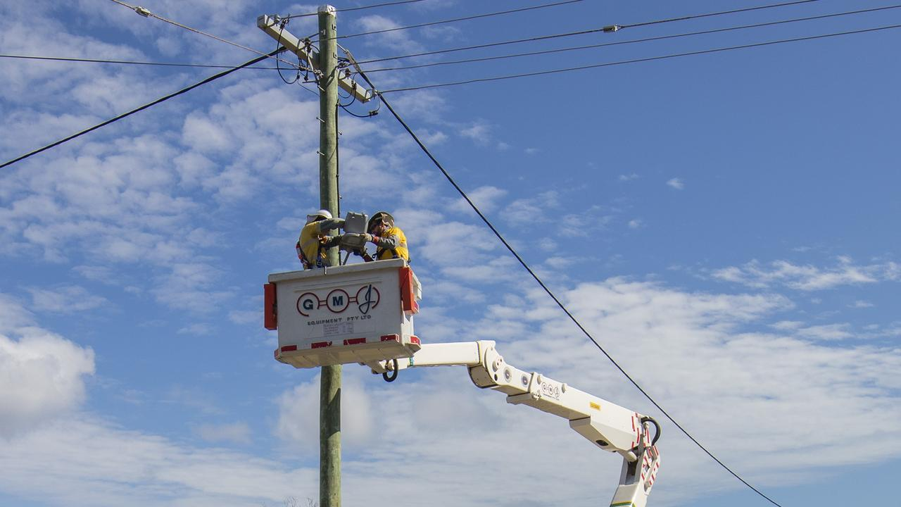 Ergon Energy installs turtle friendly street lighting for Livingstone Shire Council. Picture: Contributed