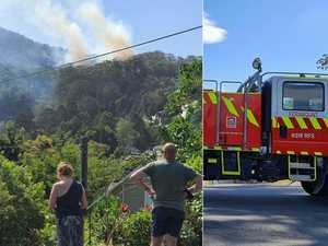 Fireys work to contain bushfire in Coffs