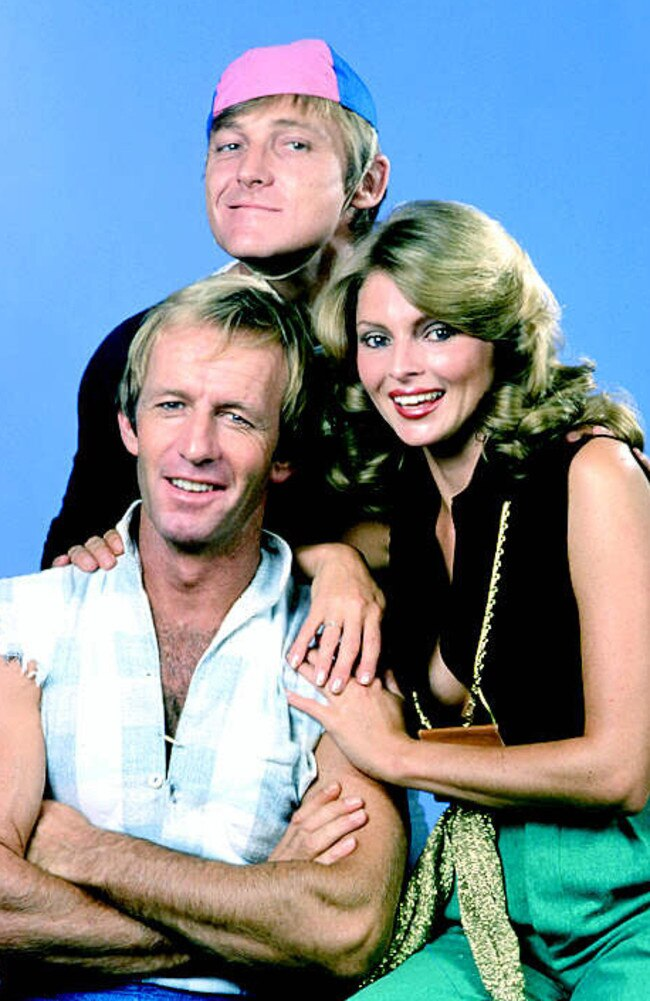 What it became in time ... Hoges, Strop and Delvene Delaney on 'The Paul Hogan Show' circa 1980.