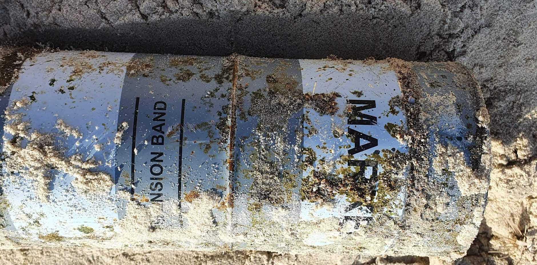A military device washed up on Belongil Beach, Byron Bay.