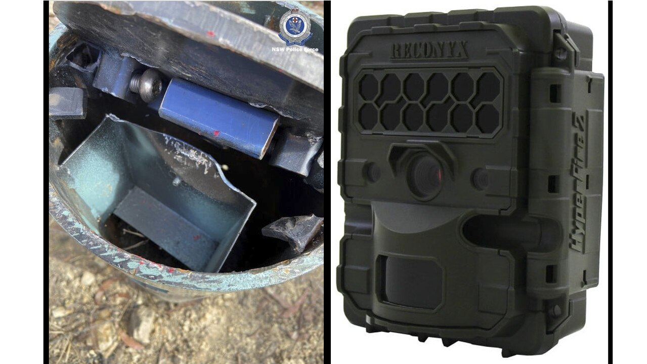 Images of a specialist camera equipment stolen from a forest south of Grafton.
