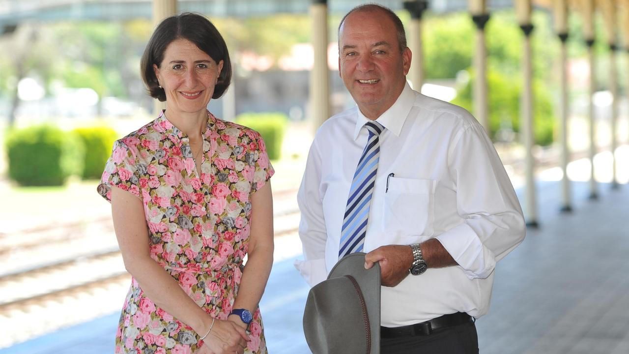 Premier Gladys Berejiklian and her ex-partner and former MP Daryl Maguire. Picture: The Daily Advertiser/ACM
