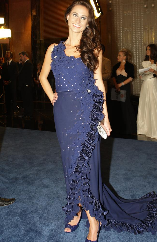 2009 Brownlow Medal. Dane Swan's partner Taylor Wilson caught the eye with her $500,000 diamond studded gown.
