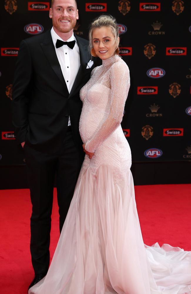 2017 AFL Brownlow Medal Count at Crown Palladium. Jarryd Roughead and wife Sarah. Pic: Michael Klein