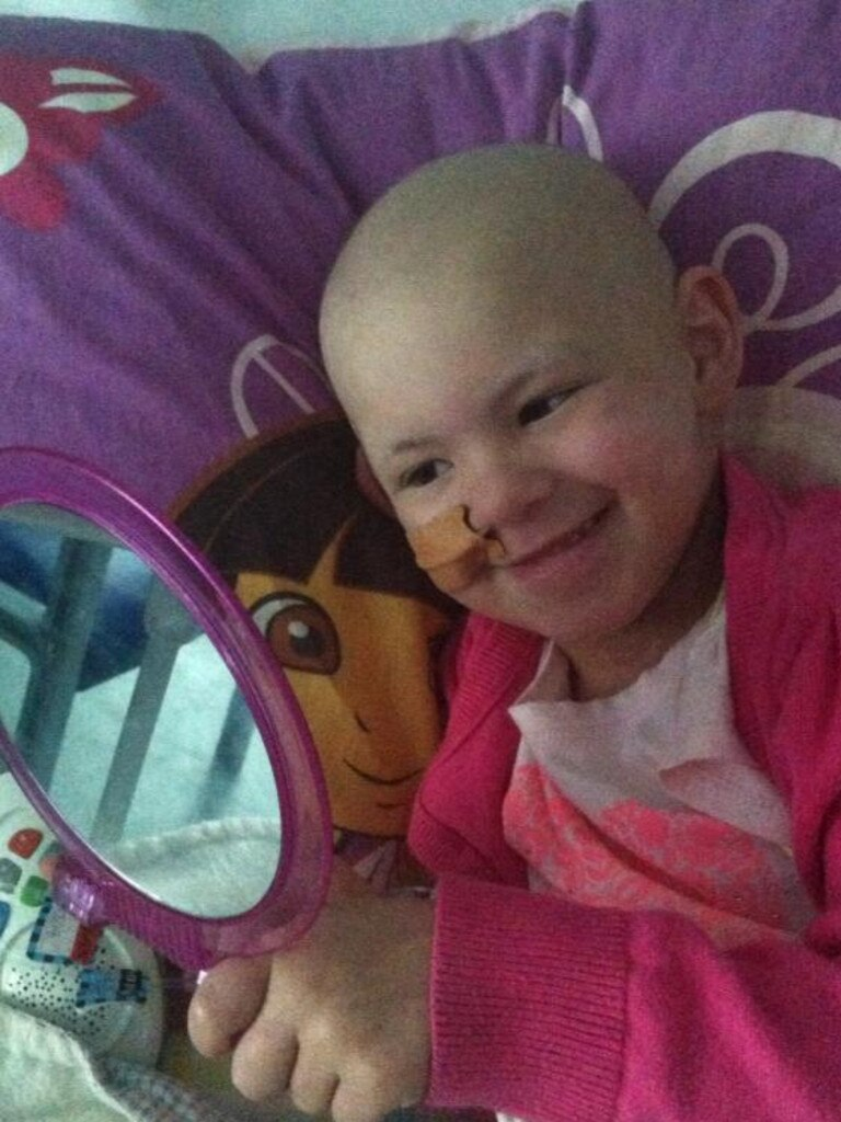 Ava was diagnosed with acute lymphoblastic leukaemia when she was just 18 months old. Picture: Supplied